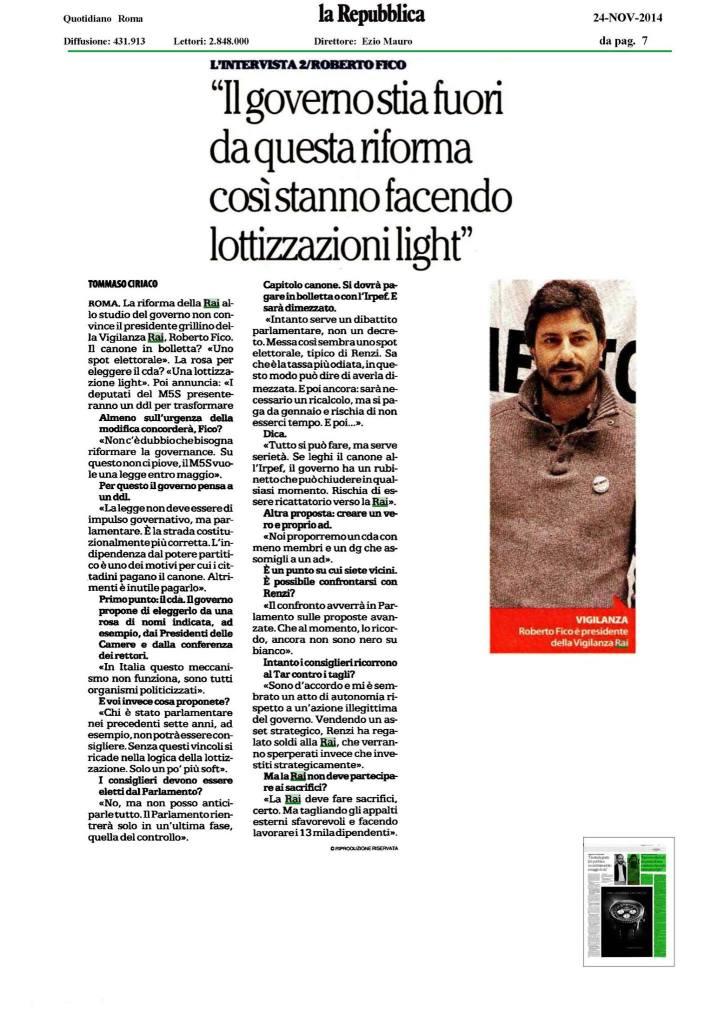 Repubblica 24/11/2014