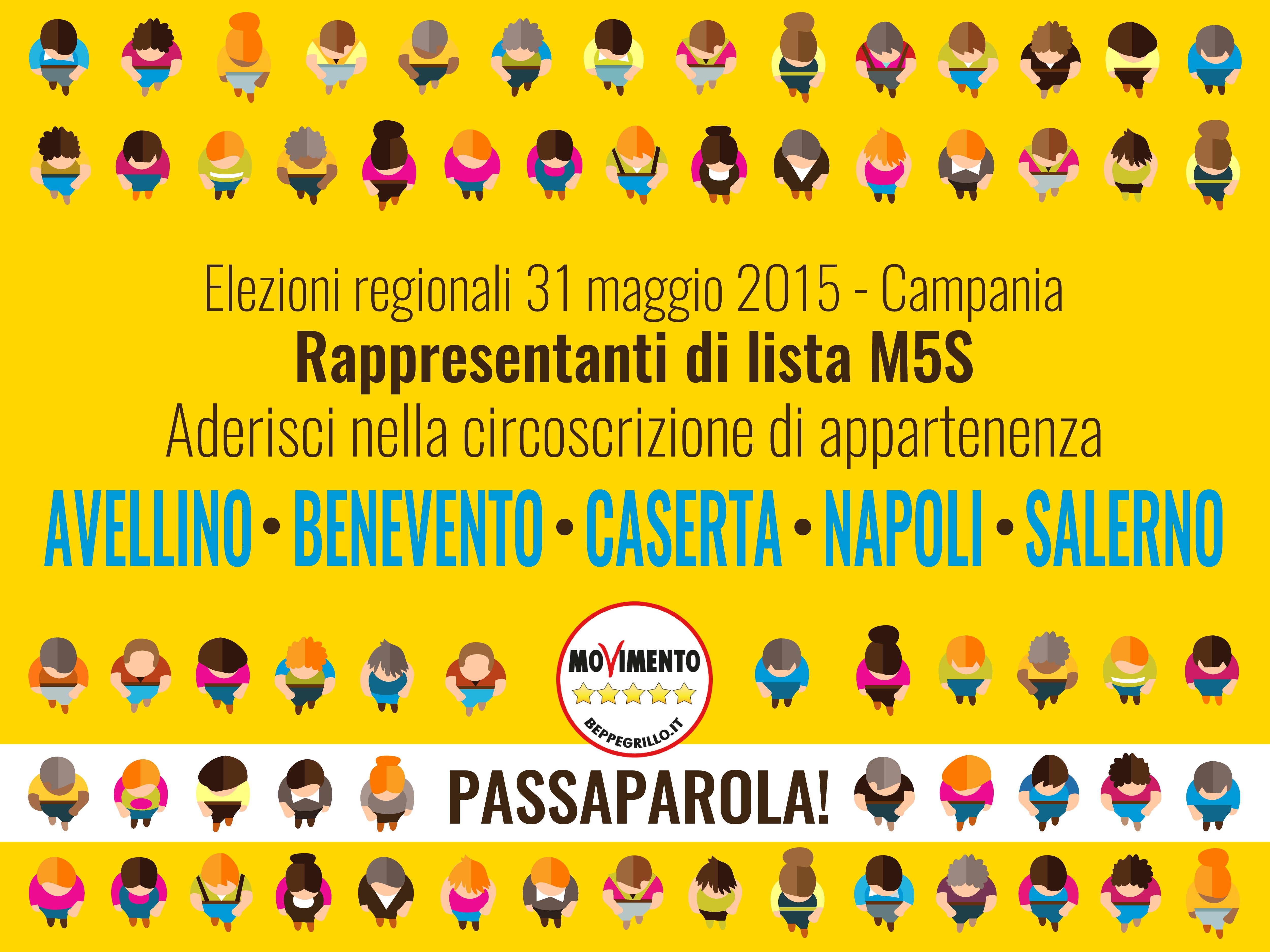 Rappresentanti di lista M5S - Campania 2015
