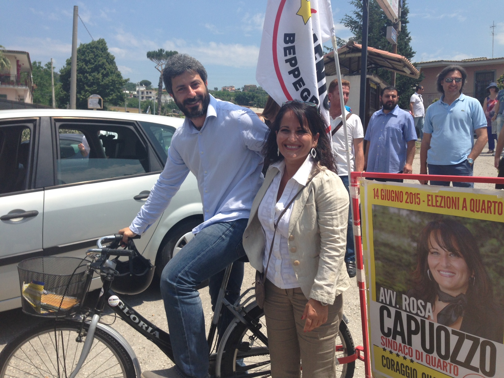 Roberto Fico e Rosa Capuozzo candidata sindaco M5S di Quarto