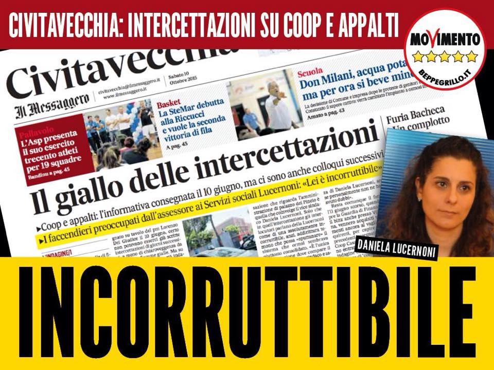 """Vicesindaco M5S Civitavecchia - """"Assolutamente incorruttibile"""""""