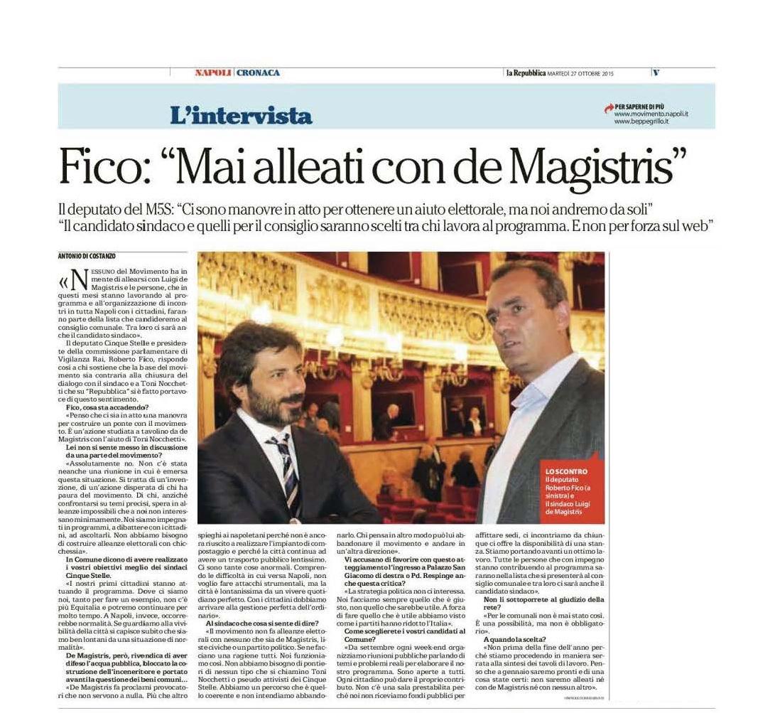 intervista repubblica de magistris 27 ottobre 2015