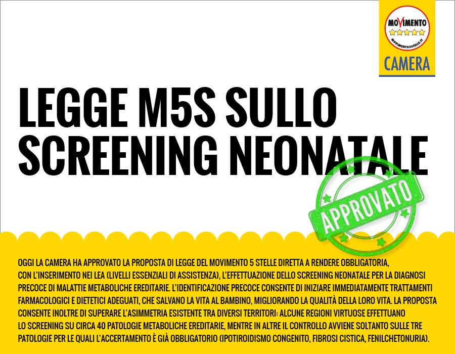 screening nenonatale approvato