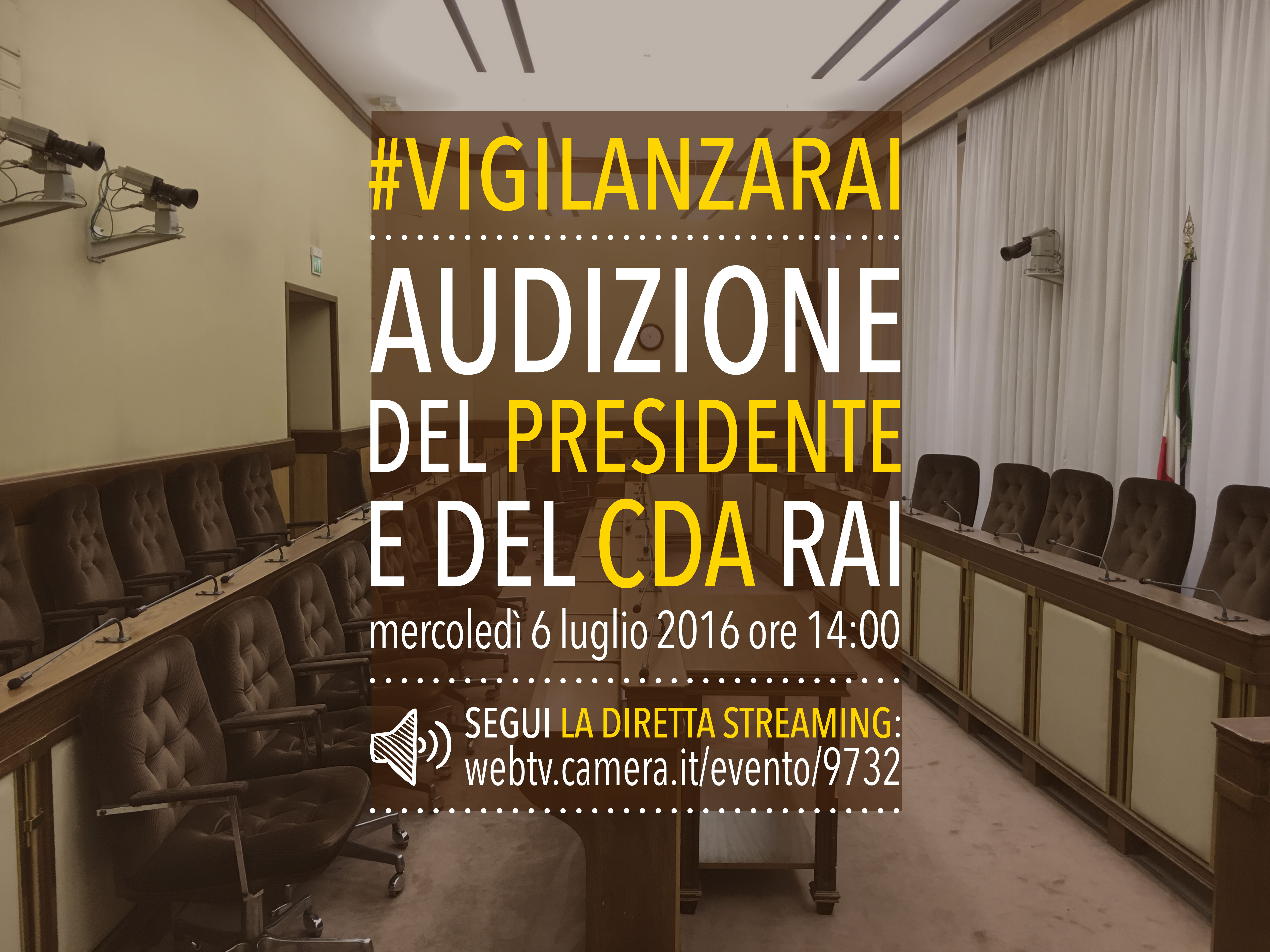 Vigilanza rai audizione del presidente e del cda rai for Camera dei deputati diretta tv