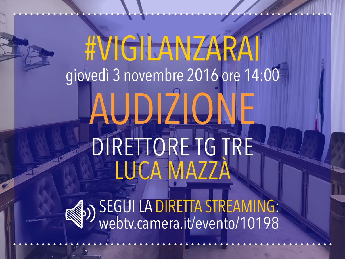 Vigilanza rai audizione del direttore del tg3 luca mazz for Diretta streaming parlamento