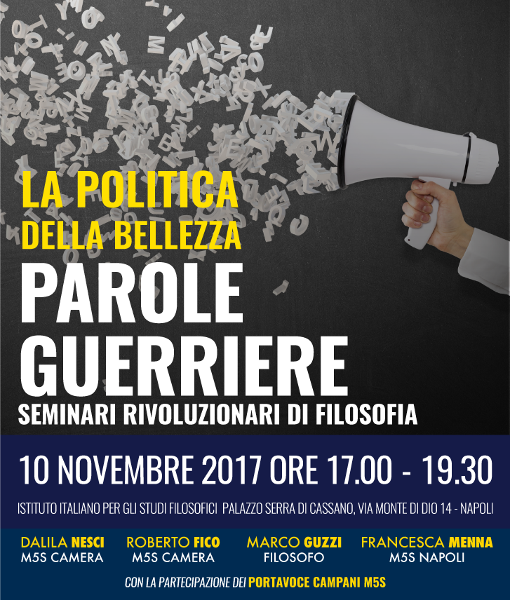 locandina Politica della bellezza_ciclo parole guerriere_10 novembre2017 Napoli