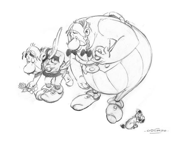 Uderzo, lo storico fumettista creatore di Asterix e Obelix, ha voluto rendere il suo omaggio a Charlie Hebdo, tornando a disegnare per la prima volta da quando aveva annunciato il suo 'pensionamento' nel 2011