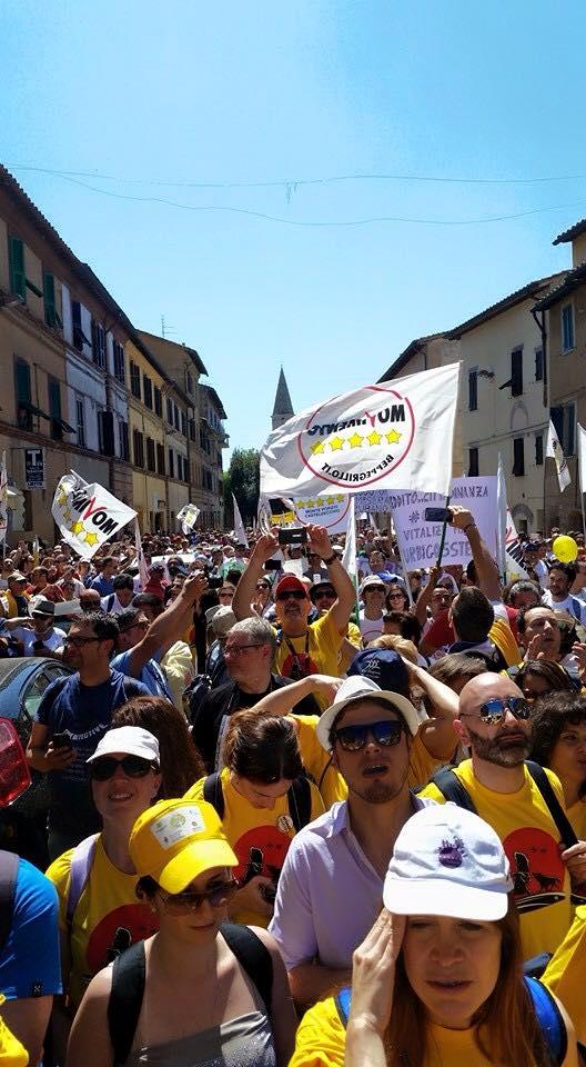 Marcia per il reddito di cittadinanza - Perugia