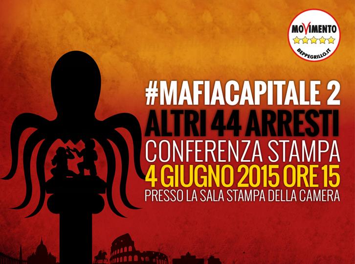 Mafia Capitale - conferenza stampa M5S