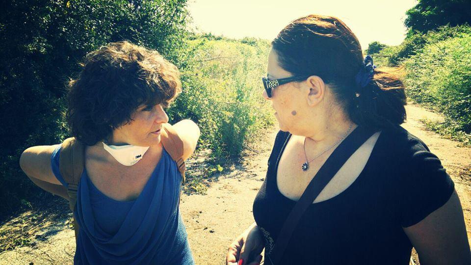 Paola Nugnes e Vilma Moronese - Maxidiscarica Calvi Risorta - sopralluogo M5S