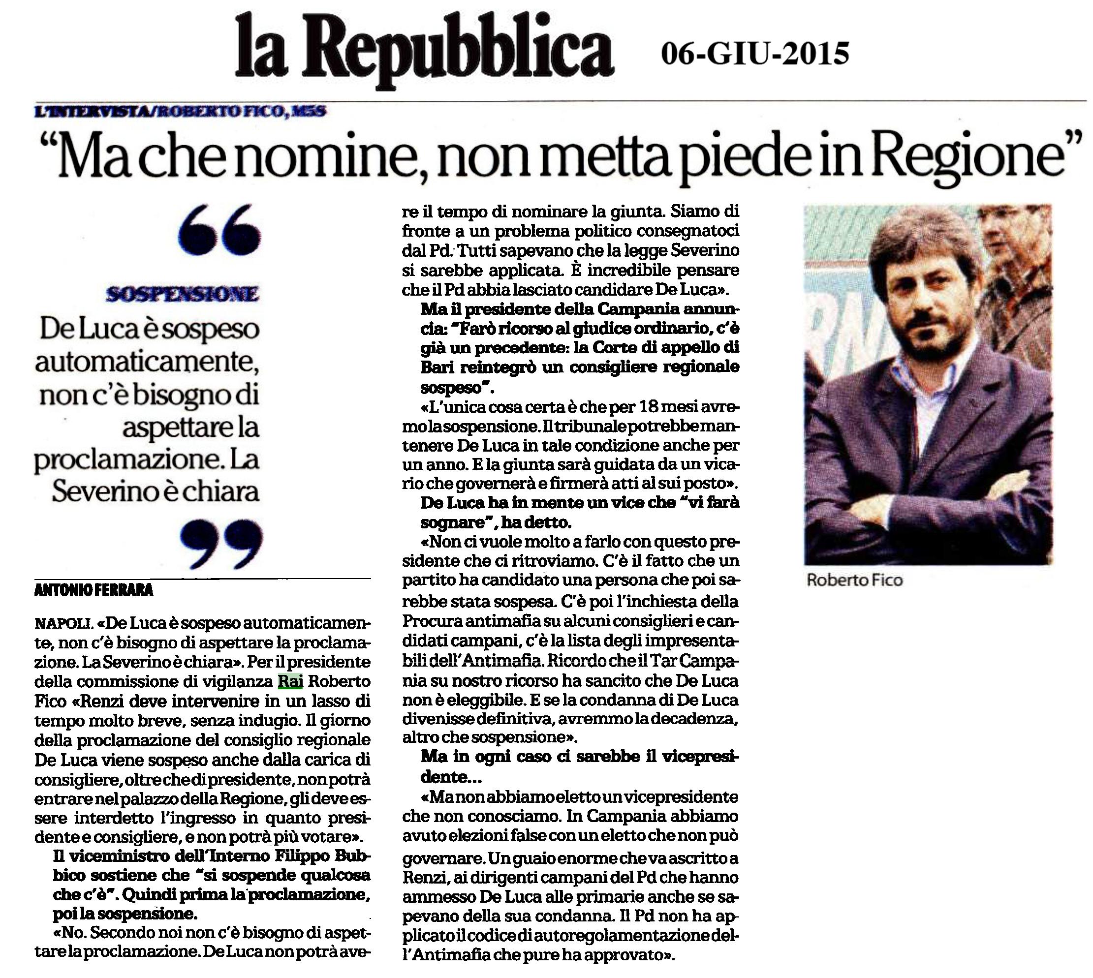 intervista Repubblica_De Luca_6 giugno2015