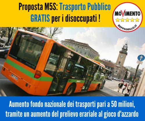 trasporti gratis disoccupati_proposta M5S