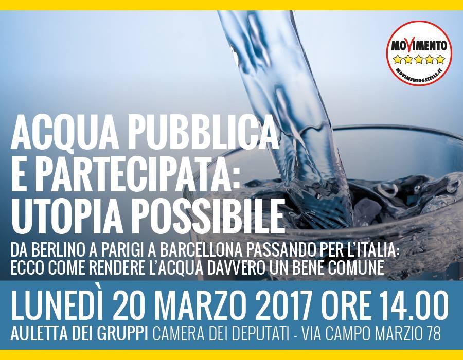 convegno acqua pubblica m5s marzo 2017