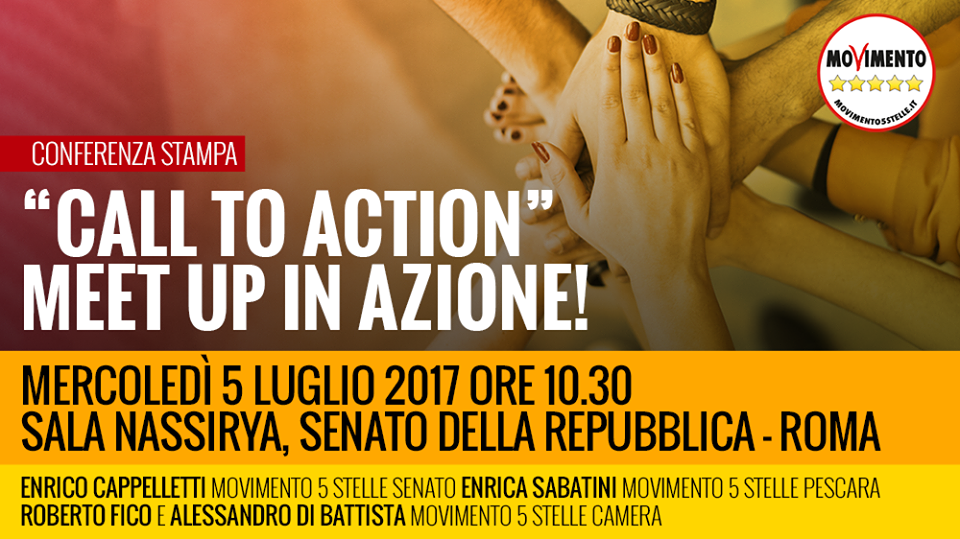 cartello conf stampa Rousseau call to action