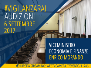 audizioni_06092017_viceministro Morando