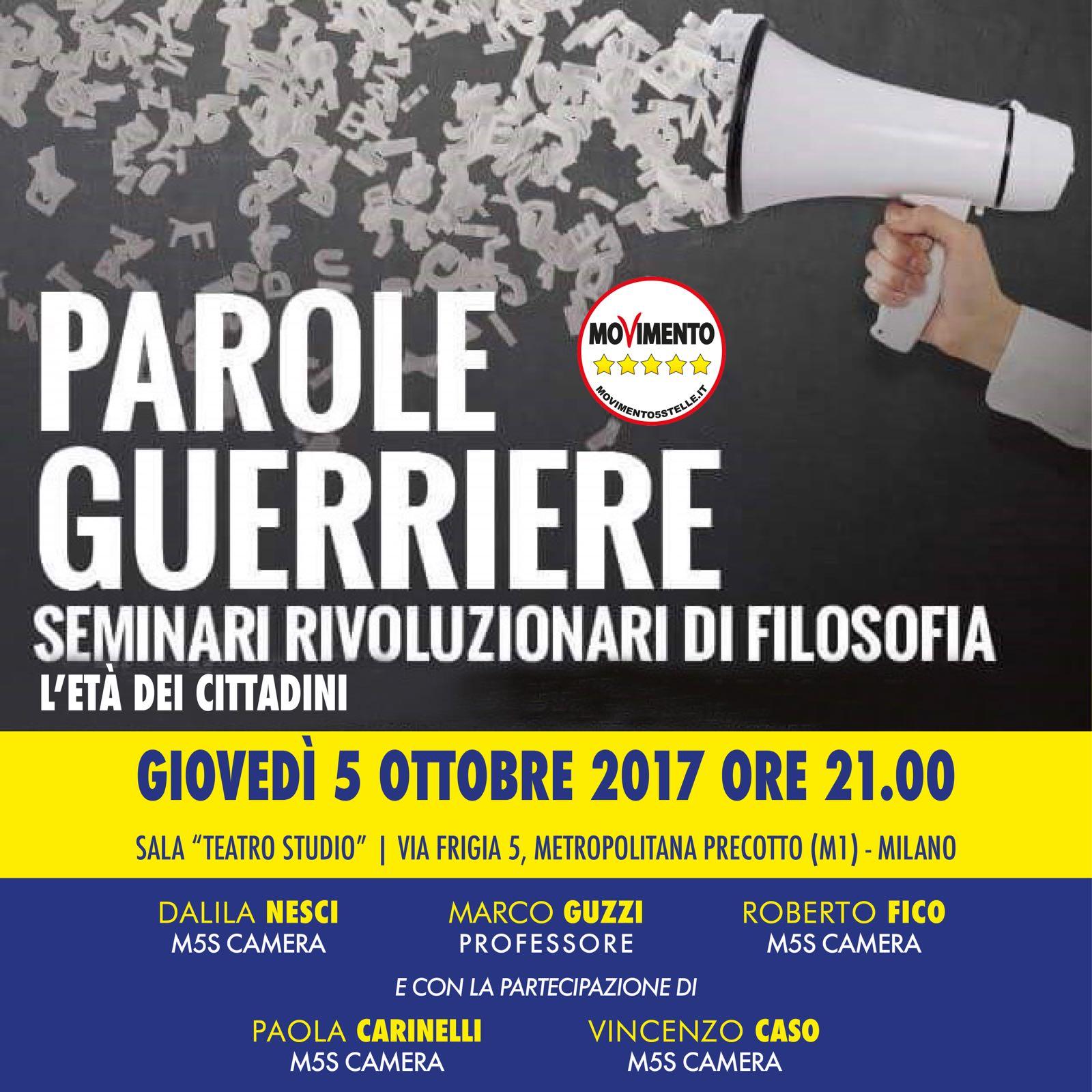 PArole Guerriere Milano